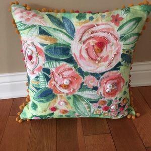 Beautiful decorative Pom Pom pillow